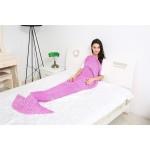 Purple Knitting Pattern Mermaid Tail Blanket