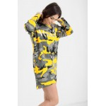 Yellow Camouflage Vogue Oversized Baggy Top