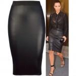 Celeb Style High Waist Bodycon Pencil Skirt