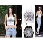 Nicola | Inspired Mandala Halter Neck Crop Top